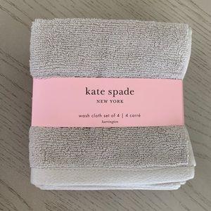 🆕 Kate Spade Washcloth Set 4 Piece